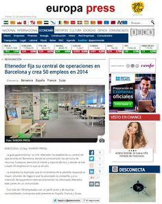 ¡Fijamos nuestra central de operaciones en Barcelona y creamos 50 puesto de trabajo en 2014 ¿Qué toca ahora? Seguir trabajando más y más!