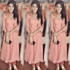 Dresses For Teens, Simple Dresses, Casual Dresses, Indian Wedding Outfits, Indian Outfits, Western Dresses, Indian Dresses, Kurta Designs, Blouse Designs