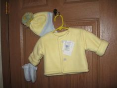 Baby yellow and blue 3pc. jacket set by FairytaleBeginnings2 for $25.00