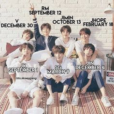 Whens youre birthday mine is on august 3rd #bts