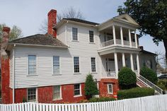 Dancy-Polk house; Decatur, Alabama. One of 3 structures still standing after the Battle Of Decatur in 1864. This is the oldest structure in Decatur as well.