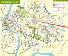 Bangkok Tourism & Accommodation Map