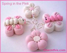 Hey, I found this really awesome Etsy listing at https://www.etsy.com/listing/121120259/set-of-four-polymer-clay-pink