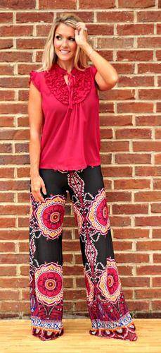"""My O My"" Yoga Pants (BURGUNDY), $32.00"