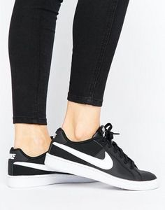 competitive price 5e747 01660 Nike Court Royale Trainers In Black And White Cool Trainers, Black And  White Nikes,