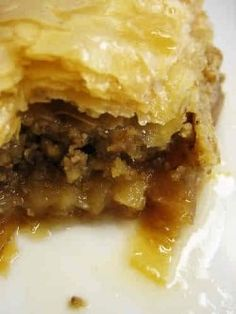 "This is the best baklava I have ever tasted""! This is what I hear whenever I serve or give my homemade baklava. This baklava recipe is so perfectly.certainly Turkish dessert Taco Pie Recipes, Greek Recipes, Mexican Food Recipes, Snack Recipes, Cooking Recipes, Snacks, Dishes Recipes, Chef Recipes, Rice Recipes"
