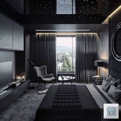 37 Wonderful Luxury Bedroom Design Ideas You Will Love - If you've ever watched Lifestyles of the Rich and Famous, you are familiar with what luxury bedroom decor is. It is defined by it's beauty, material, . Luxury Bedroom Design, Master Bedroom Design, Home Decor Bedroom, Interior Design, Bedroom Designs, Lux Bedroom, Room Interior, Black Bedroom Design, Mens Bedroom Design