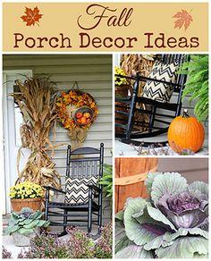 Fall Porch Decor Ideas via House of Hawthornes