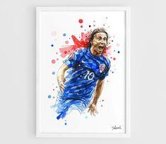 Luka Modric Croatia UEFA Euro France 2016 A3 Wall Art Print