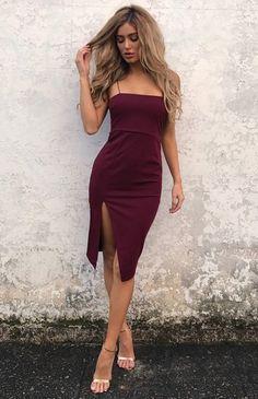 ELENA DRESS - WINE (PREORDER)
