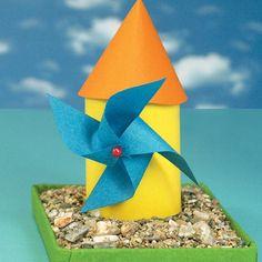Ανεμόμυλος από Χαρτί Summer Crafts, Crafts For Kids, Toilet Paper Roll Crafts, Fruit Art, Malm, Windmill, Preschool Activities, Techno, Spring