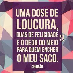 Bom Dia!!! #frases #loucura #felicidade #chorão #pensamentos #instabynina