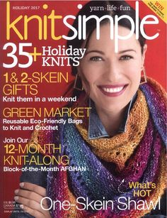 The Judah Pattern has now been released knit in Koigu Chelsea. View this and Knit Simple Holiday 2017 designs in Koigu. Creative Knitting, Easy Knitting, Knitting Patterns, Crochet Patterns, Knitting Projects, Knitting Magazine, Crochet Magazine, Free Crochet, Knit Crochet