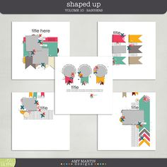 Templates: Shaped Up v10 - Banners by Amy Martin Designs