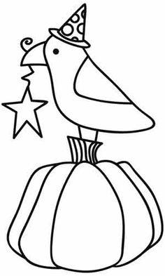 Raven and Pumpkin design (UTH2661) from UrbanThreads.com