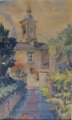 Chiesa di S. Ilario (Dino Gambetti - Quistello, Mantova, 1907 - Genova, 1988) http://www.pittoriliguri.info/pittori-liguri/gambetti-dino/