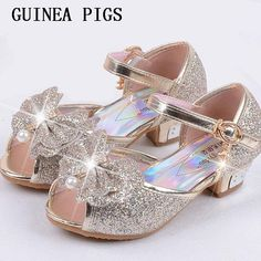 Children Sandals For Girls Weddings Girls Sandals Crystal High Heel Shoes Banquet Pink Gold Blue Gold GUINEA PIGS Brand - Kid Shop Global - Kids & Baby Shop Online - baby & kids clothing, toys for baby & kid Baby Girl Sandals, Girls Sandals, Women Sandals, Kid Shoes, Girls Shoes, Shoes Heels, Kids Dress Shoes, Wedding Girl, Wedding Shoes