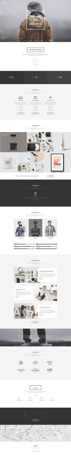 Enigma - Clean Onepage PSD by Romaximus on Creative Market