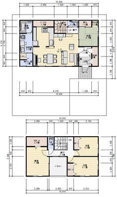 Craftsman Floor Plans, House Floor Plans, House Floor Design, Small Apartment Plans, Garage Apartments, Japanese Architecture, Japanese House, House Layouts, Architect Design