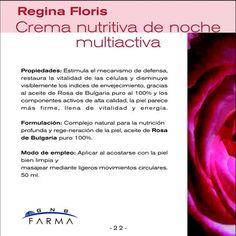 Crema nutritiva noche Regina Floris: descripción