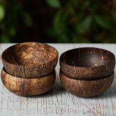DIY Natural Coconut Bowls: Set of 4 - Holly Way - DIY Natural Coconut Bowls: Set of 4 Natural Coconut Bowls Bundle Coconut Bowl, Coconut Shell, Eco Friendly Water Bottles, Natural Bowls, Eco Friendly Cars, Eco Friendly Products, Eco Friendly House, Natural Cleaning Products, Natural Products