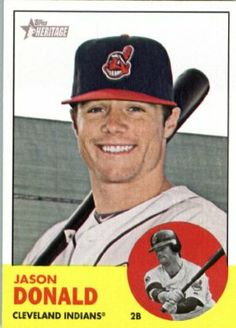 2012 Topps Heritage 317 Jason Donald - Cleveland Indians (ENCASED MLB Trading Card) by Topps Heritage. $2.95. Single 2012 Topps Heritage Baseball Card. Card ENCASED in a Screwdown Display Case. NOTE: Stock Photo Used. Contact seller if there is no image or you have questions. Look for thousands of other great sportscards of your favorite player or team. Card is in MINT condition. 2012 Topps Heritage 317 Jason Donald - Cleveland Indians (ENCASED MLB Trading Card)