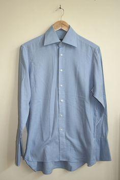 Vintage Style The Original Ben Sherman Mens Long Sleeve Shirt Size L Cotton Blue