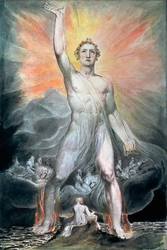 William Blake - The Angel of Revelation (1805) William Blake Art, Art Romantique, Harry Clarke, Dante Gabriel Rossetti, Hr Giger, Expo, Art Graphique, Visionary Art, Anime Comics