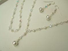 3 piece bridal jewelry set - Capture my heart