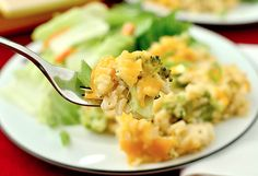 Slow Cooker Cheesy Rice and Broccoli