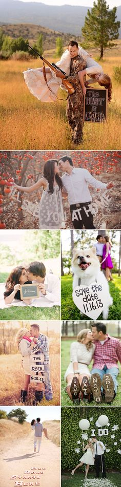 Creative & fun save-the-dates and engagement photo ideas!