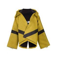 ISSEY MIYAKE - Oversized Fringed Jacket - IL58FD842 52 - H. Lorenzo (4.030 RON) ❤ liked on Polyvore featuring outerwear, jackets, fringe jacket, issey miyake and oversized jacket