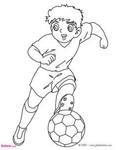 Soccer player dribbling coloring page. Go green and color online this Soccer player dribbling coloring page. You can also print out and color this . Sports Coloring Pages, Colouring Pages, Coloring Sheets, Adult Coloring, Sport Craft, Collage Making, Free Hd Wallpapers, Free Printable Coloring Pages, Soccer Players