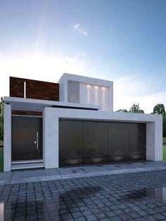 Fachada House Main Gates Design, House Front Design, Exterior Wall Design, Facade Design, Home Building Design, Building A House, Minimal House Design, Modern House Facades, Villa