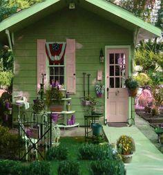 Fun She Shed Conversion Ideas Backyard Sheds, Backyard Retreat, Garden Sheds, Shed Design, Garden Design, Landscape Design, Shed Decor, Dream Garden, Home And Garden