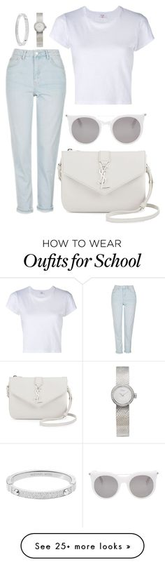 """""""Back 2 school"""" by natysdvd on Polyvore featuring RE/DONE, Topshop, Yves Saint Laurent, Alexander McQueen, Michael Kors and Christian Dior"""