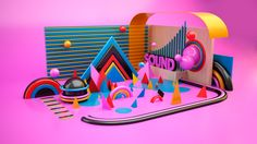 Sound by Jeison Barba, via Behance (Cinema 4D Photoshop)