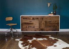 Walnut Patchwork Dresser by KithandKinStore on Etsy, $3445.00