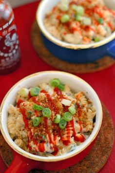 Gouda Mac and Cheese with Sriracha #gouda #sriracha