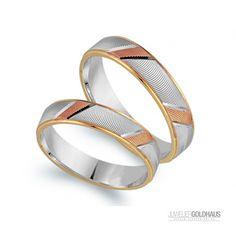 Trauringe Eheringe Gold Dreifarbig Tri-Color - CLR1055