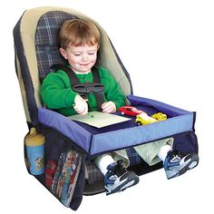 Turn travel time into playtime with the Snack and Play Travel Tray, which buckles to car, plane, train or stroller seats. #BabyCenterBlog
