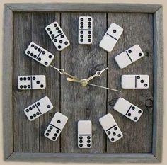 Оригинальные часы из костей домино! Как Вам?