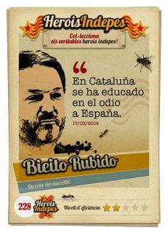 """#HeroisIndepes 228. Bieito Rubido: """"En Cataluña se ha educado en el odio a España."""""""