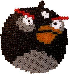 Angry birds black hama perler beads