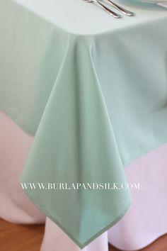 60 x 126 inch Aqua Spa Tablecloths, Tiffany Rectangle Table Cloths  | Wholesale…