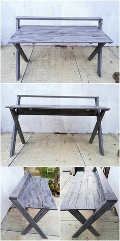 Creating a beautiful wood pallet office study table is one such conceptual idea of the wood pallet which you can even try your own self. For this wood pallet study table designing you just need to gather up with the wood pallet durable effect to create an interesting impact into it.