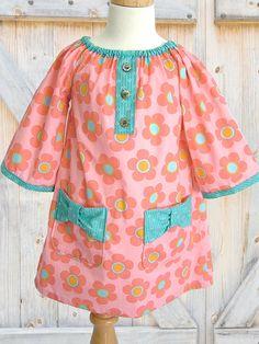Peasant dress sewing pattern, Girls dress pattern, Kids Childrens sewing pattern, baby sewing pattern, Easy beginner, Poppy Bow Dress. $7.50, via Etsy.