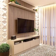 Amazing Modern TV Wall Decor Idea for Living Room Design Look Luxury - If you don& find out how to decorate the wall supporting the bed, and you feel a perplexed in - Small Wall Decor, Tv Wall Decor, Small Living Rooms, Home Living Room, Living Room Decor, Tv Unit Furniture Design, Tv Wanddekor, Modern Tv Wall, Modern Room