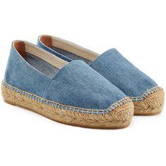 Designer Clothes, Shoes & Bags for Women Blue Flats, Blue Sandals, Blue Shoes, Shoes Sandals, Castaner Espadrilles, Denim Sandals, Denim Shoes, Espadrille Sandals, Zapatos