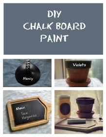 A Rural Journal: Rural Thursday #36: DIY Chalkboard Paint